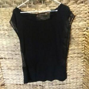 Cynthia Rowley Black mesh Top.